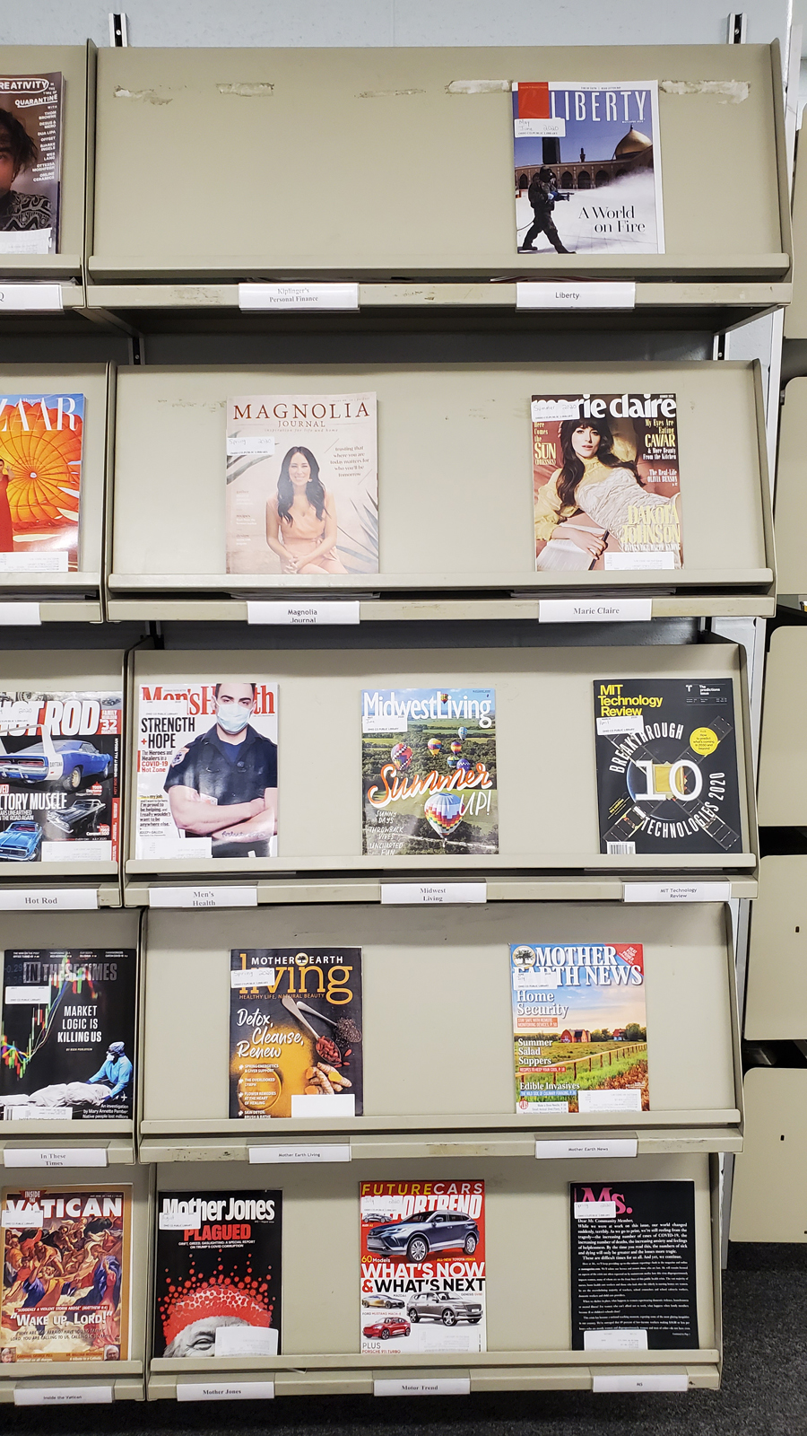 Magazines at the Ohio County Public Library