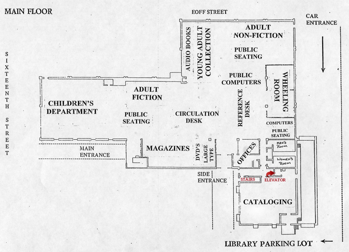 OCPL Main Floor Map