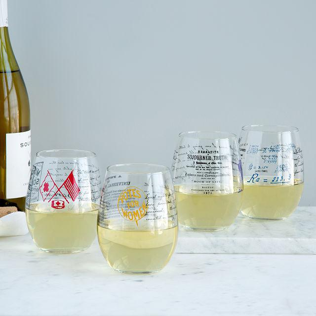 Win these stemless Wine Glasses