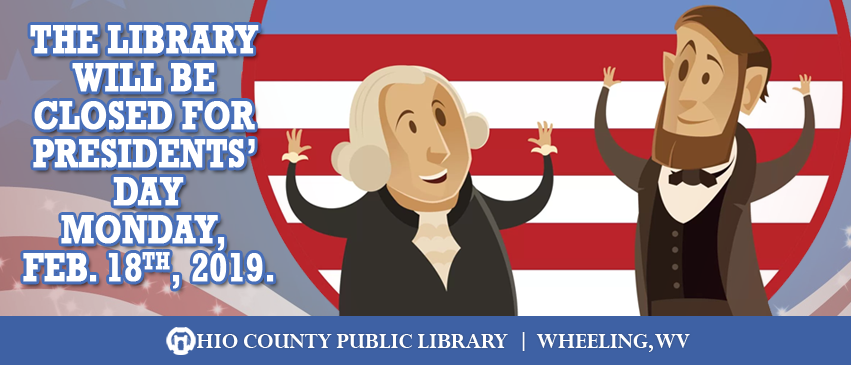 OCPL Closed for Presidents' Day, Monday, February 20, 2018