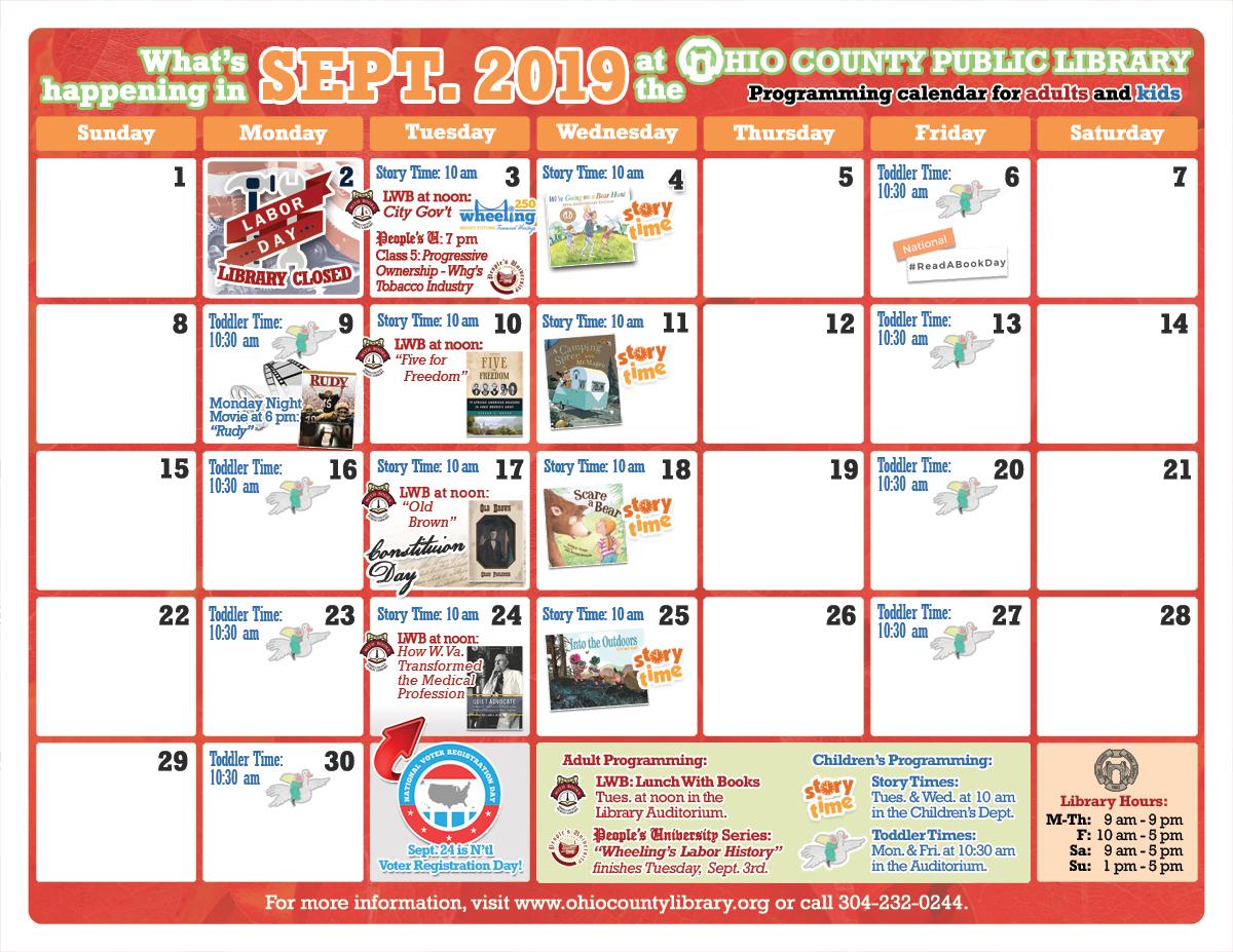 OCPL Programming Calendar: September 2019
