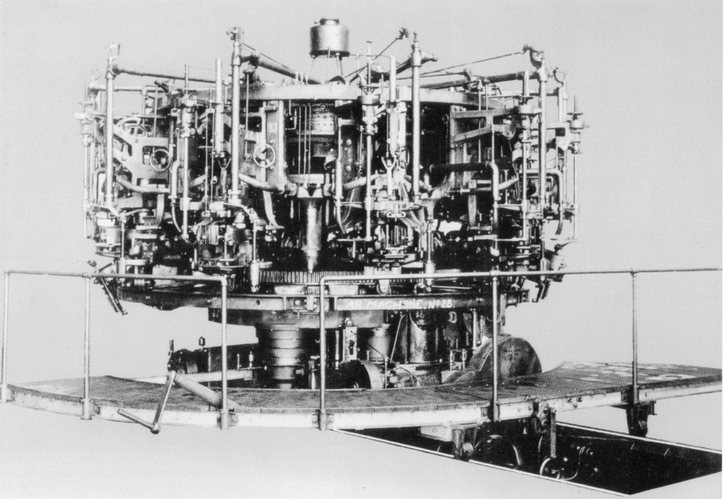 Micheal Owens's automatic bottle blowing machine