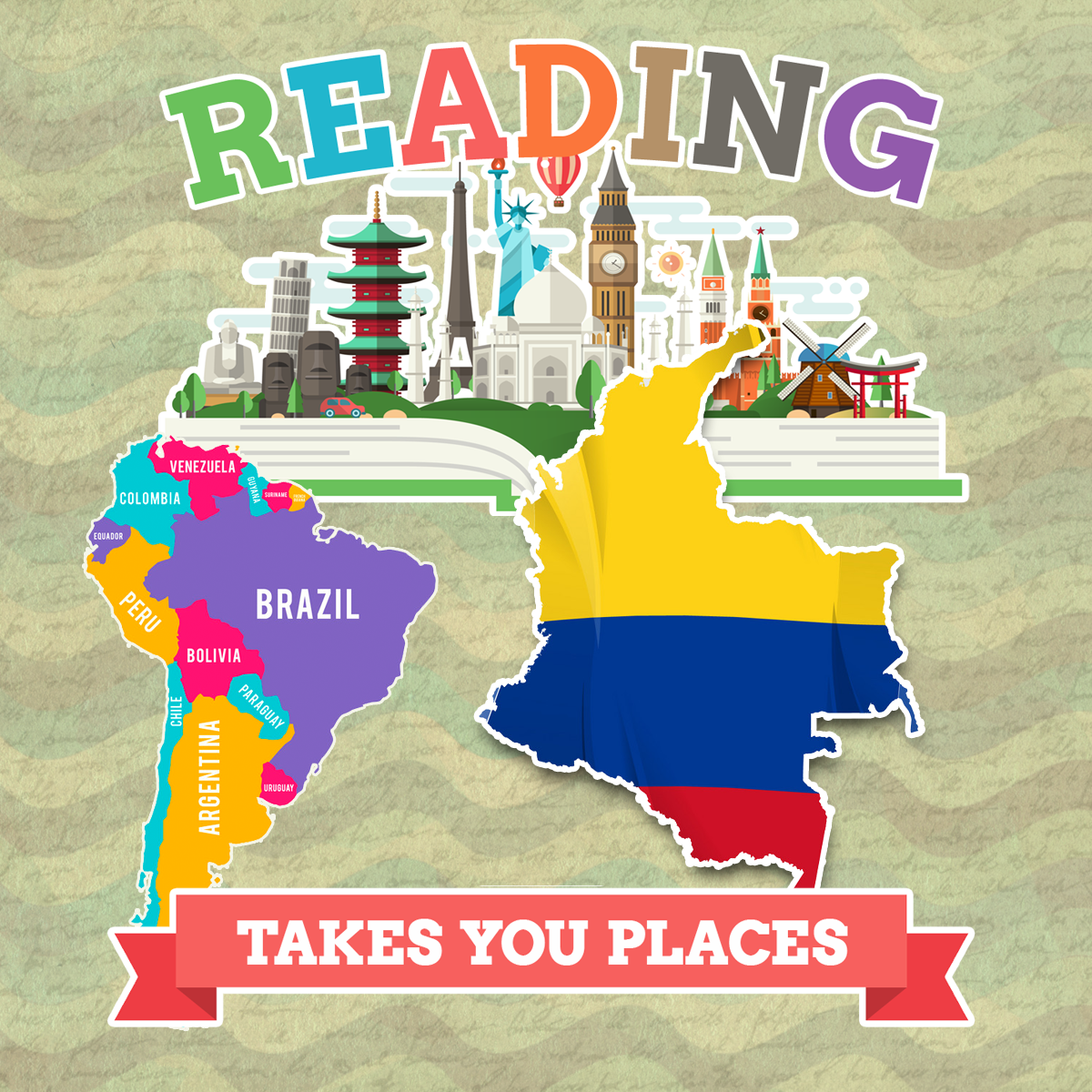 This week we are visiting Columbia for summer reading!