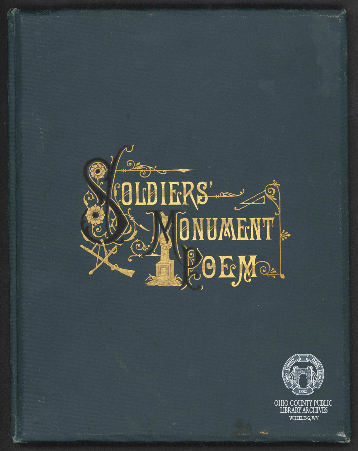 Cover of poem by William Leighton read by him at the dedication of the monument in 1883.