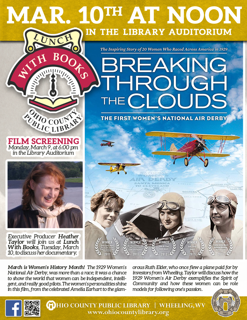 Lunch With Books: Tuesday, March 10, 2020 at noon - The First Women's National Air Derby & The Spirit of Community