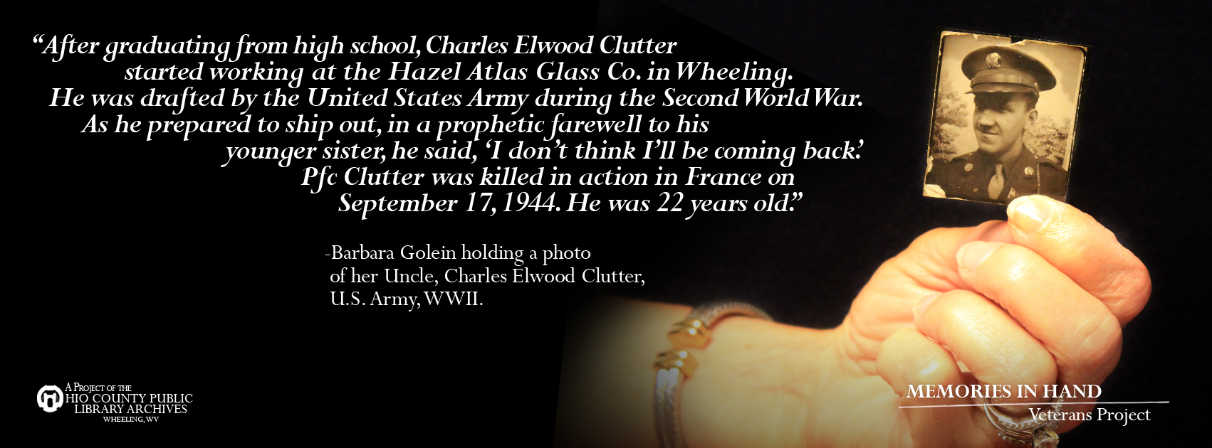 Charles Elwood Clutter, US Army, WWII