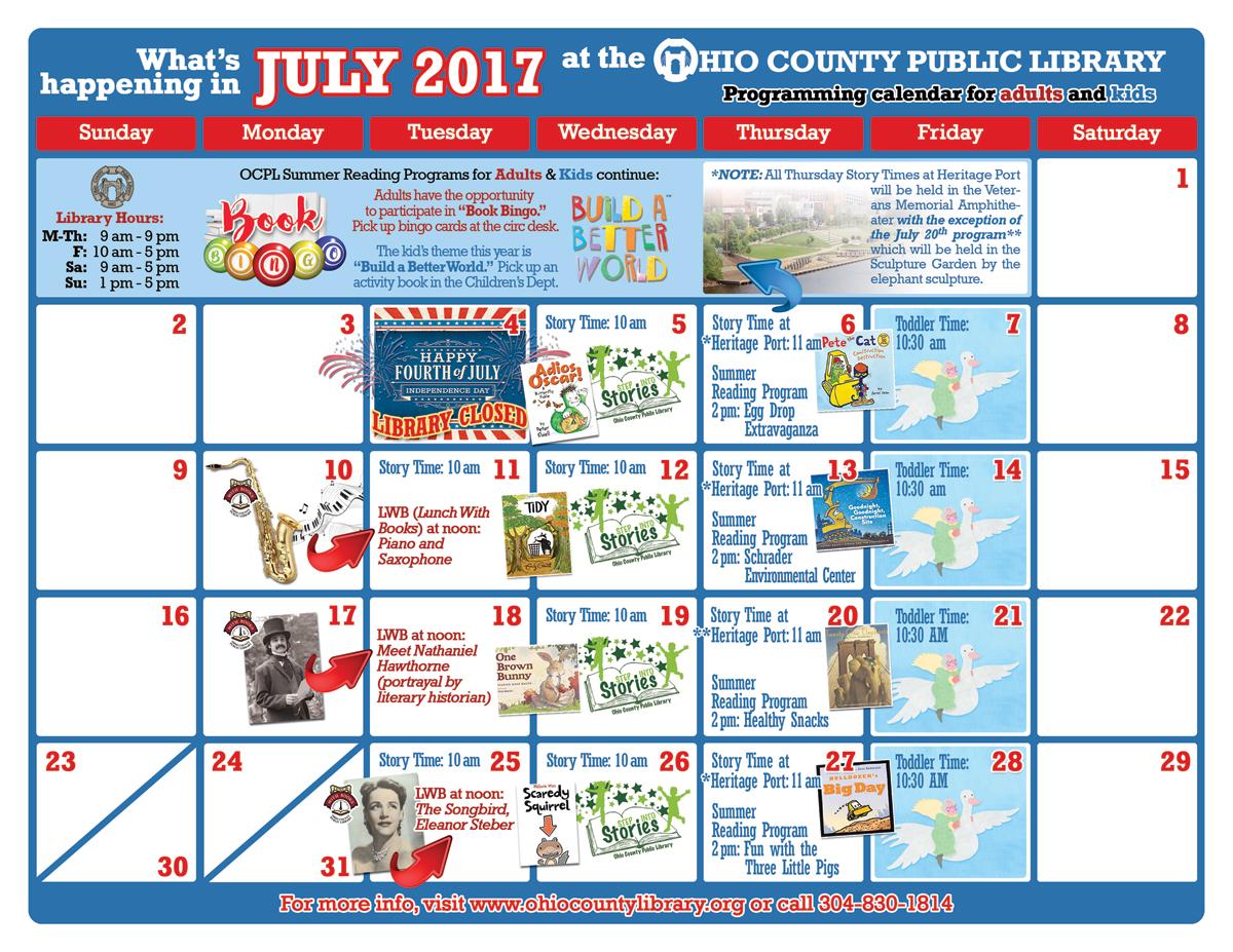 OCPL Programming Calendar: June 2017