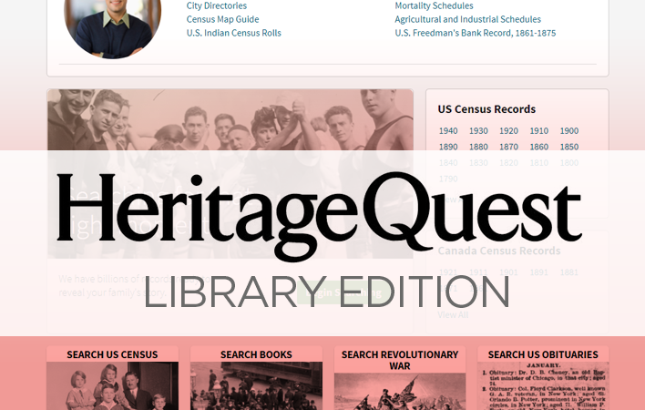 Heritage Quest Online - in-Library Access Only