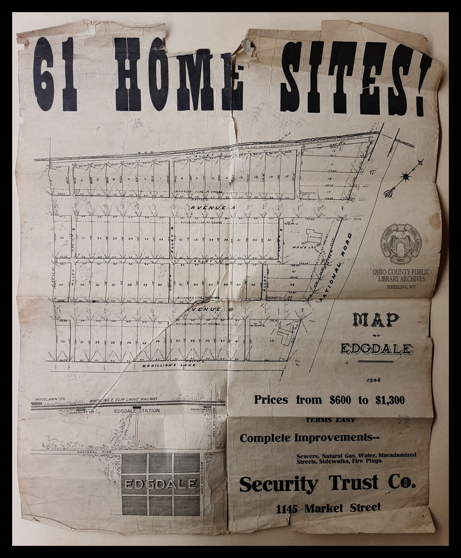 Map of Edgdale,, 1906, C.C. Smith's Sons Engineering, Inc. records, OCPL Archives