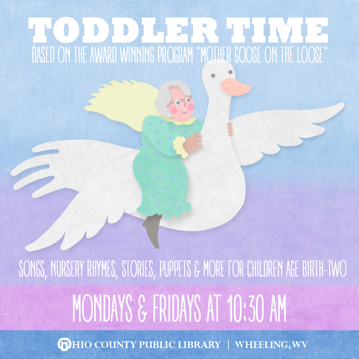 Toddler Time: Fridays at 10:30 am at the Ohio County Public Library