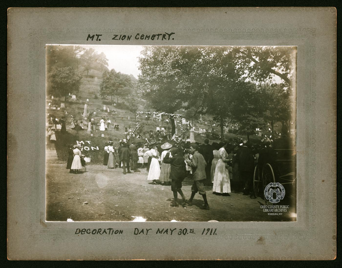 Decoration Day at Mt. Zion Cemetery, May 30, 1911