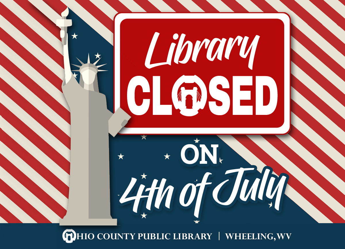 OCPL Closed for 4th of July, Thursday, July 4th, 2019
