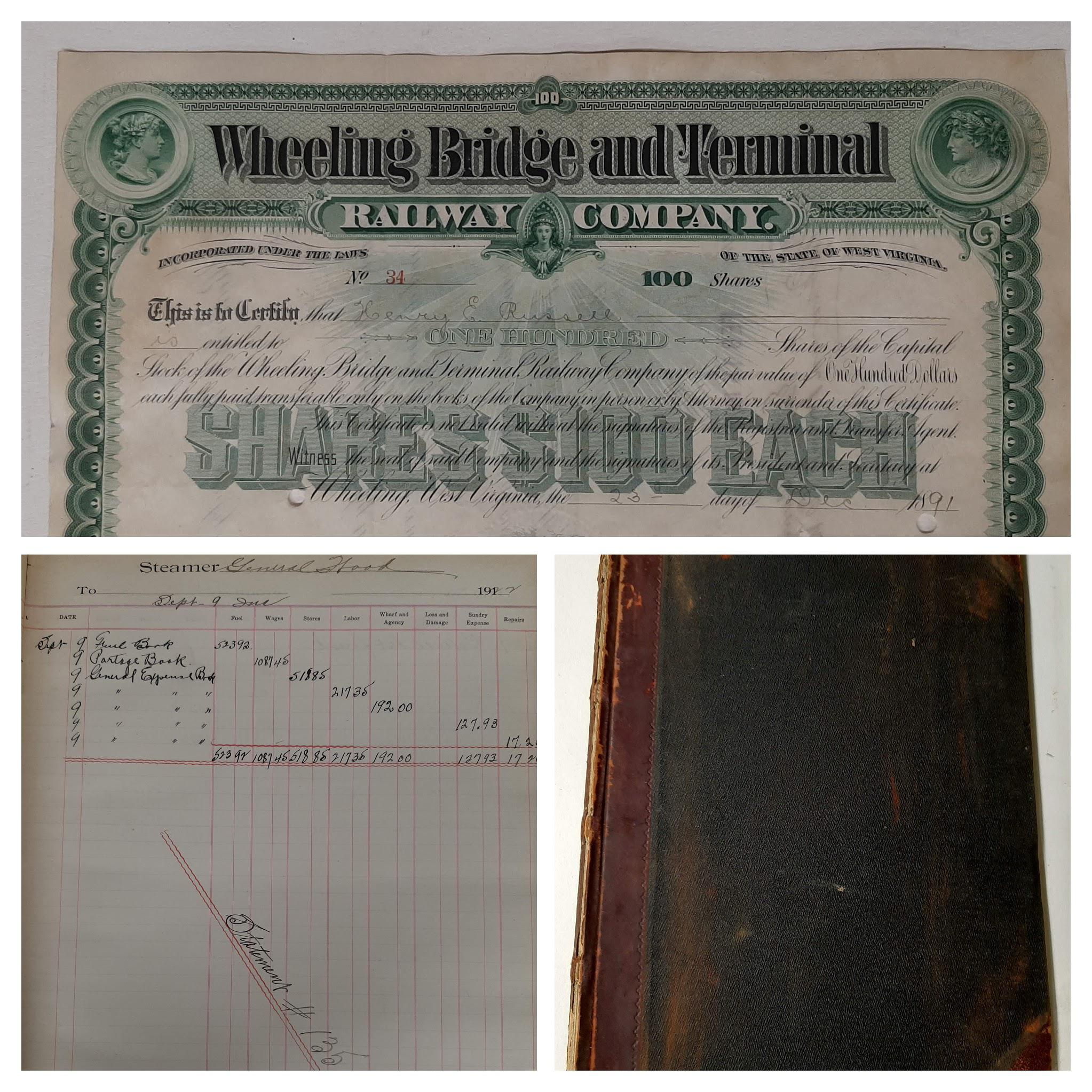 Select items from the Hazlett Family Banking Records, OCPL Archives
