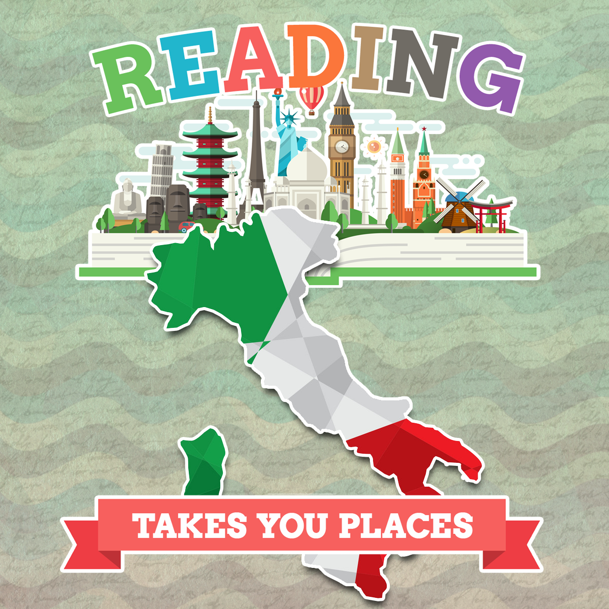 This week we are visiting Italy for summer reading!