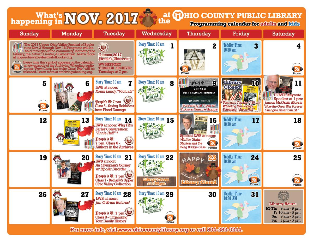 OCPL Programming Calendar: November 2017