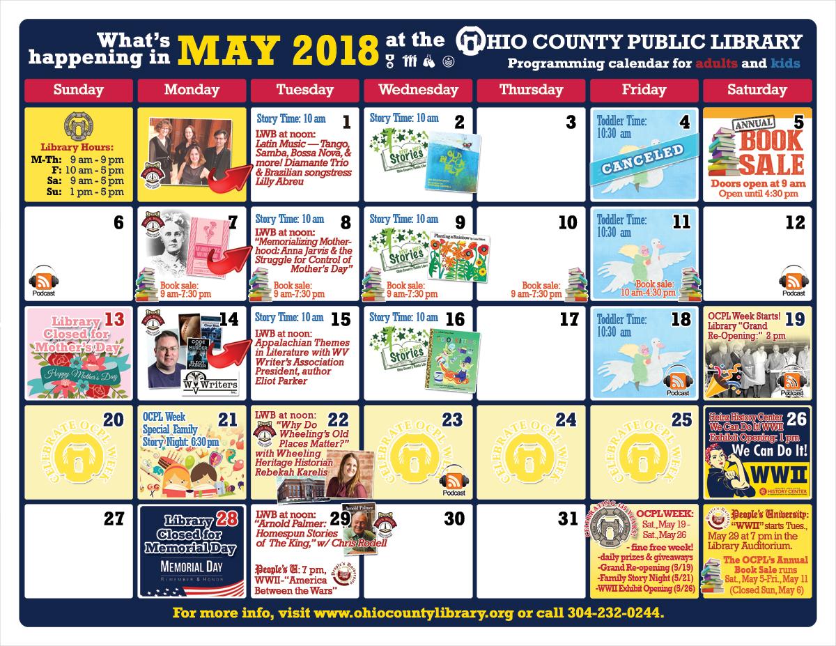 OCPL Programming Calendar: May 2018