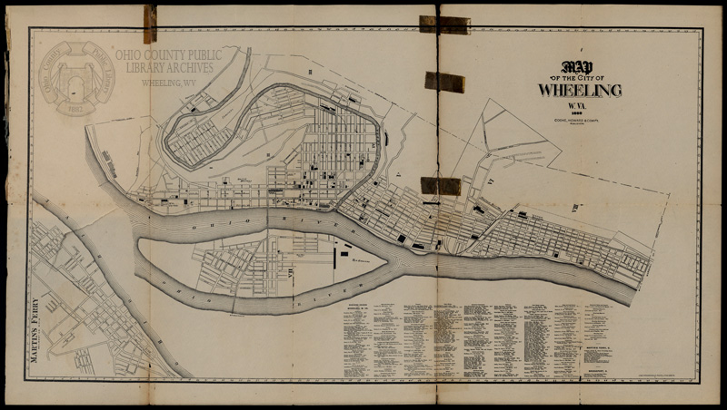 1888 Map of Wheeling