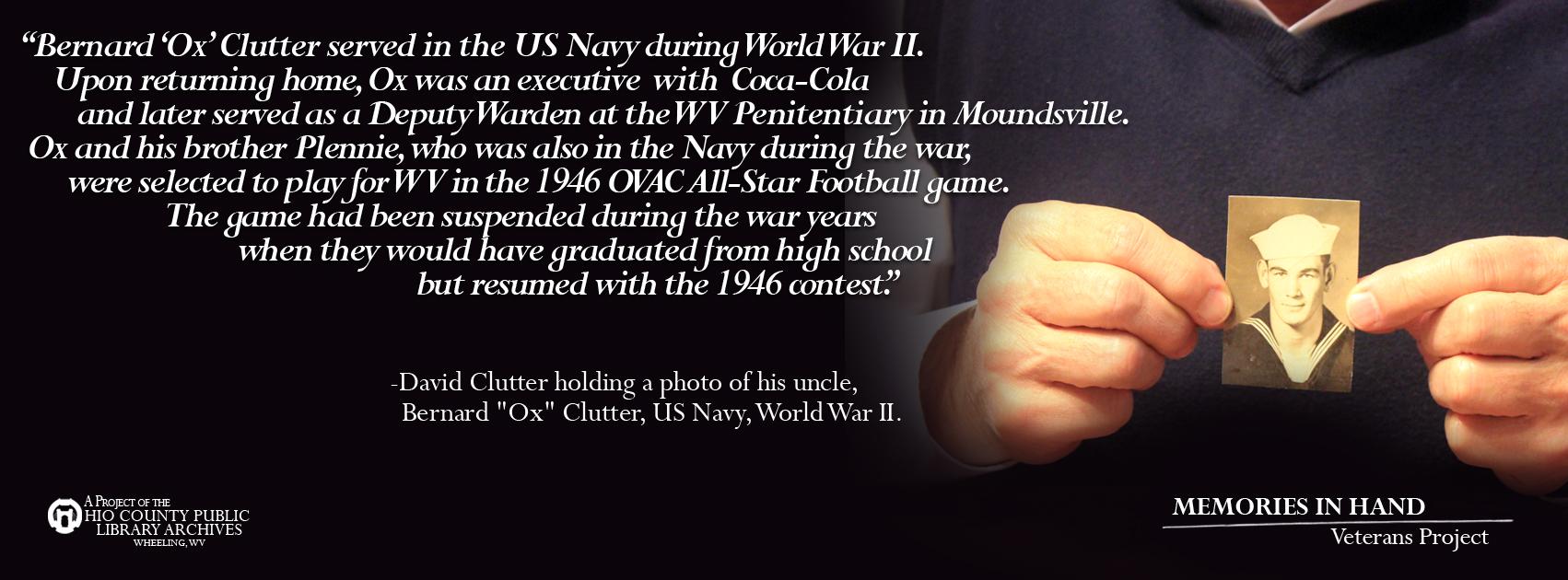 Bernard Clutter, US Navy, WWII