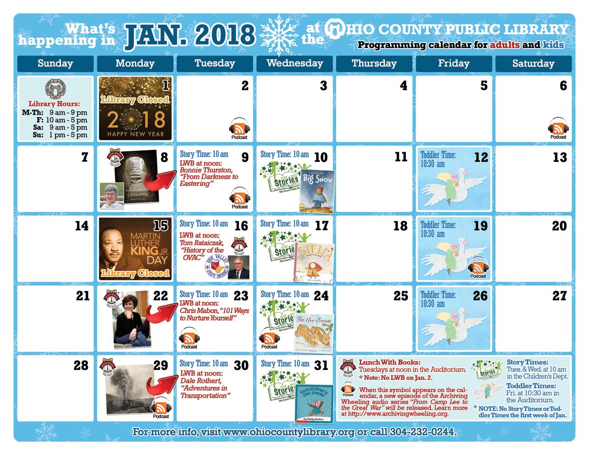 OCPL Programming Calendar: January 2018