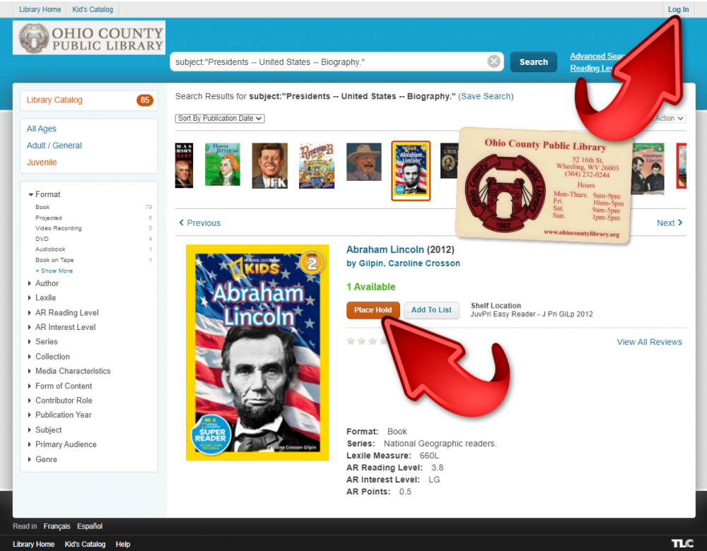 Reserve Library materials online through our catalog