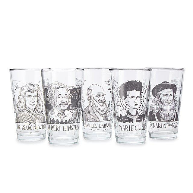 This Famous Scientist Tumbler of Marie Curie Pint Glass will be raffled off during class 5