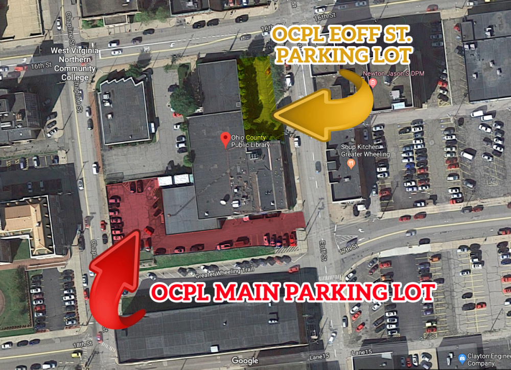 Map of Parking Lots for the Ohio County Public Library