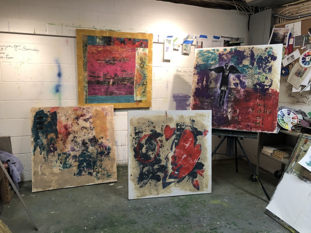 Cheryl Harshman's COVID Quartet art works
