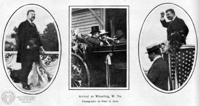 President Theodore Roosevelt Visits Wheeling, Sept. 1902, Harper's Weekly