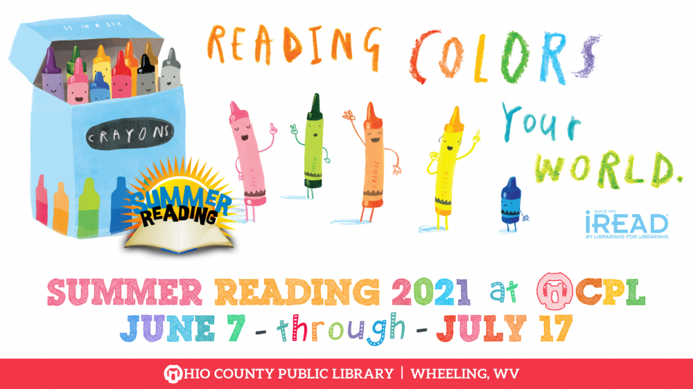 OCPL Summer Reading Program 2021: Reading Colors Your World