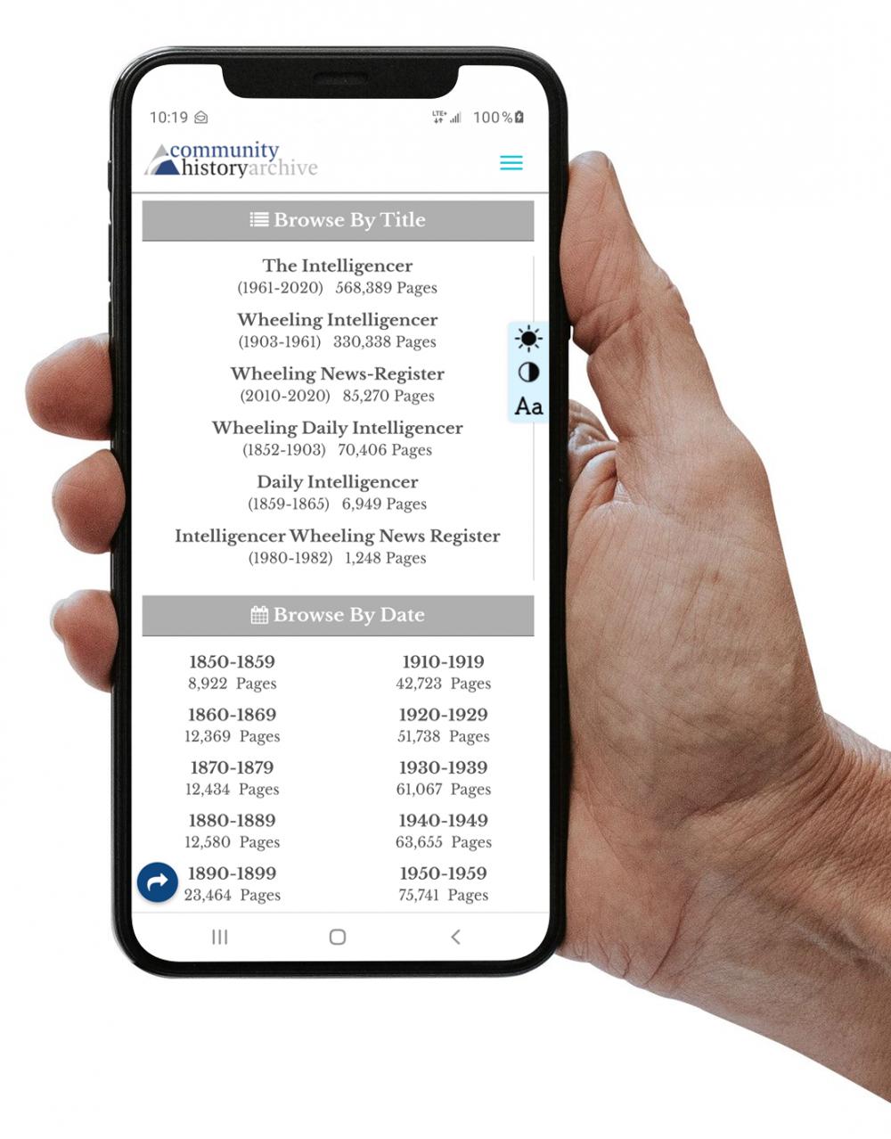 Newspapers on mobile