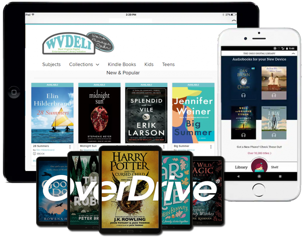 Download e-books and audiobooks on WVDeli