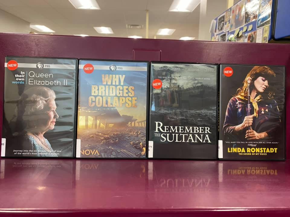 New DVDs available for curbside pick-up at the Library