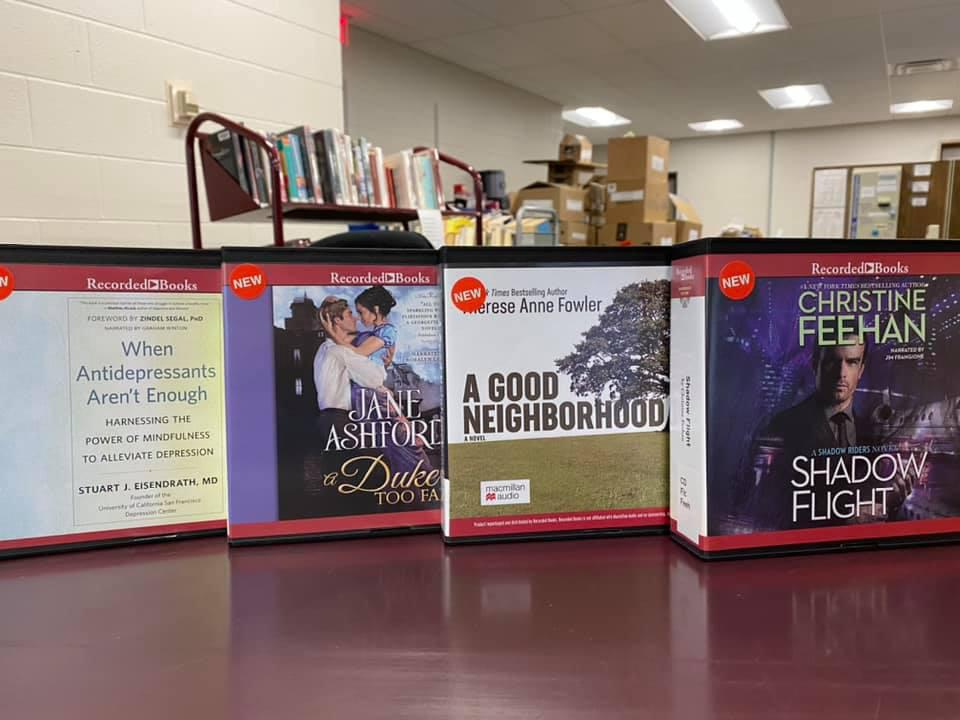 Audiobooks on CD are available to reserve for curbside pick-up at the OCPL.