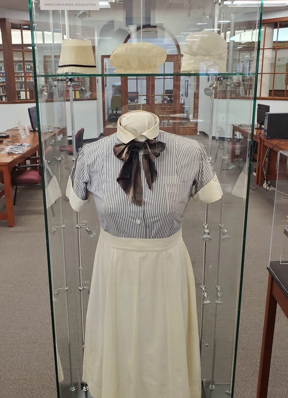 Items from the Nurses Month Exhibit at the Ohio County Public Library