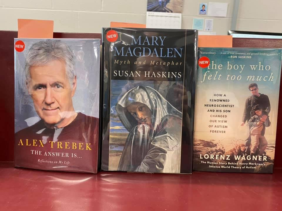 New Non-Fiction Available for curbside pick-up at the Library - The Answer Is - Reflections on My Life by Alex Trebek, Mary Magdalen Myth and Metaphor by Susan Haskins, The Boy Who Felt Too Much by Lorenz Wagner