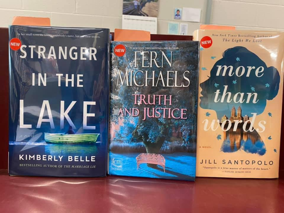 New Fiction Available for Curbside Pickup at the Library - Stranger in the Lake by Kimberly Belle, Truth and Justice by Fern Michaels, More Than Words by Jill Santopolo