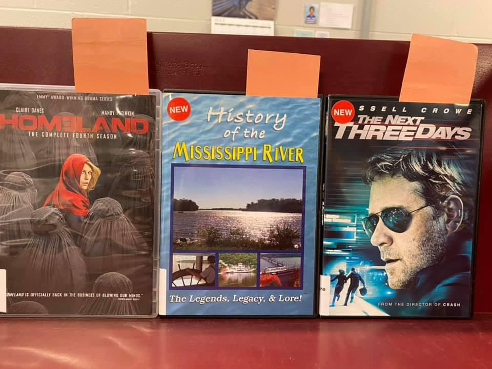 New DVDs Available for curbside pick-up at the Library - Homeland Season Four, History of the Mississippi River, The Next Three Days starring Russell Crowe