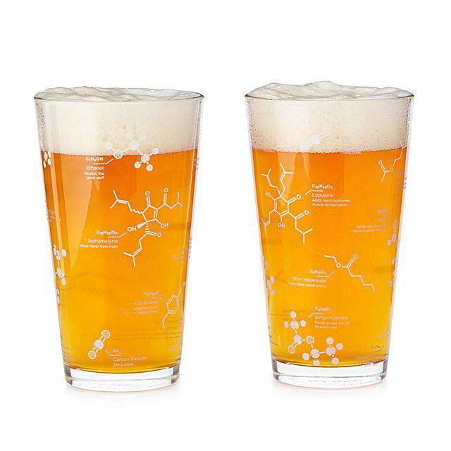 This Beer Chemistry Pint Glass will be raffled off during class 3