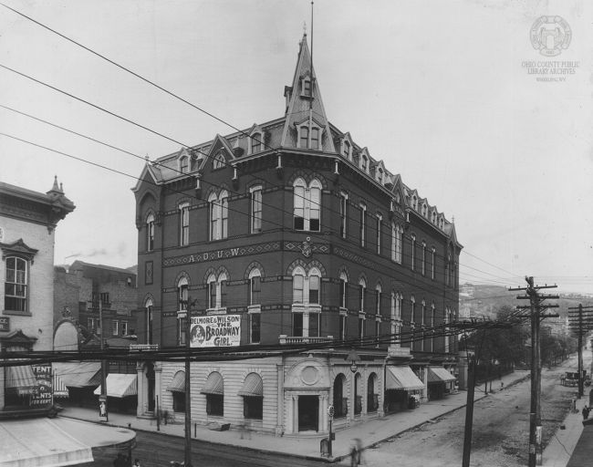 Grand Theater, or Grand Opera House, NW corner of 12th and Market Streets, Wheeling. From the Brown Collection of the Ohio County Public Library Archives