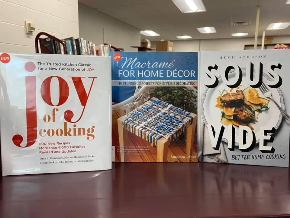 Reserve some new cookbooks for curbside pick-up