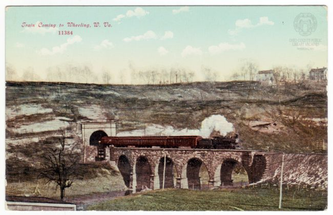 B&O Railroad Bridge. OCPL Postcard Collection.