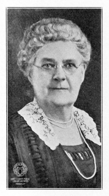 Dr. Harriet B. Jones, photo from 1926 WV Blue Book, Ohio County Public Library