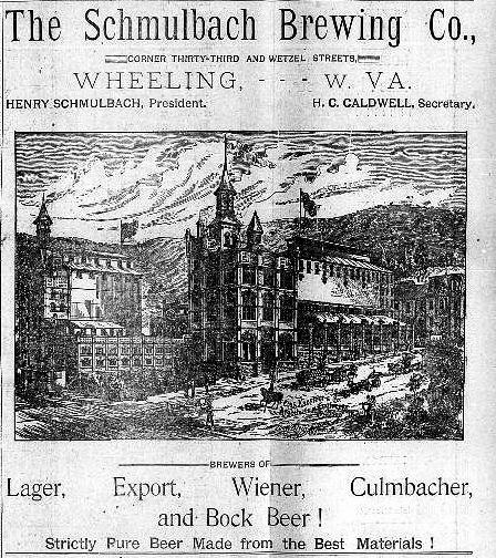 Newspaper Advertisement for Schmulbach Brewing, 1891