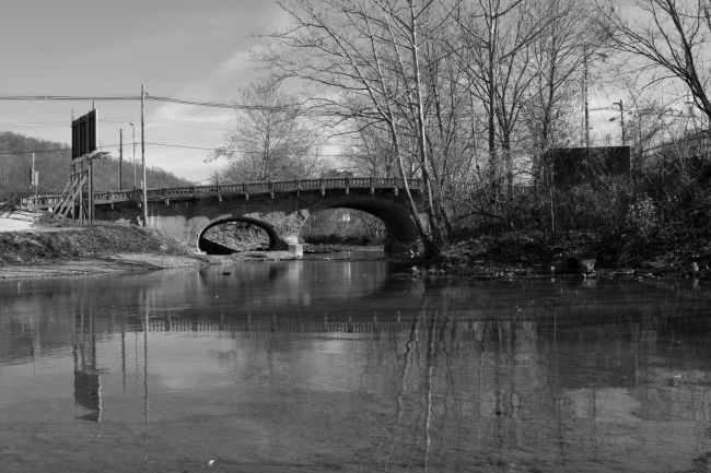 Elm Grove Stone Arch Bridge in 2010. Photo by Paul Rinkes.