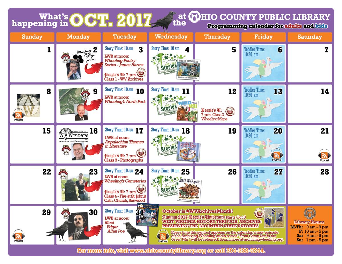 OCPL Programming Calendar: September 2017