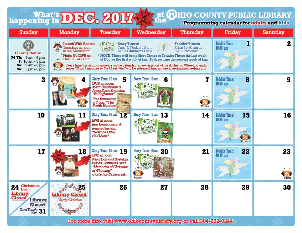 OCPL Programming Calendar: December 2017