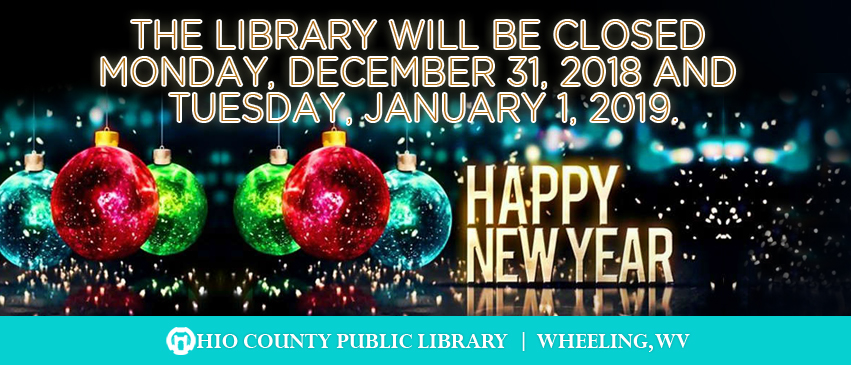 OCPL Closed for New Year's Eve and New Year's Day, 2018