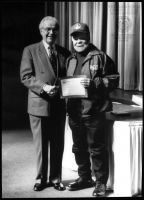 Young receiving a 1998 WV History Hero Award