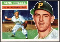 1956 Gene Freese Topps Baseball Card, Pittsburgh Pirates, from the collections of the Ohio County Public Library Archives