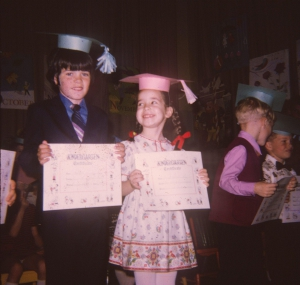 Cousins Duffy at Kindergarten Graduation
